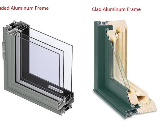 Extruded Aluminum Frames vs Clad Aluminum  – Discount Windows MN